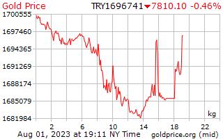 1 Tag Gold Preis pro Kilogramm in türkische Lira