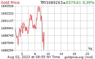 1 dag goud prijs per Kilogram in Turkse Lira