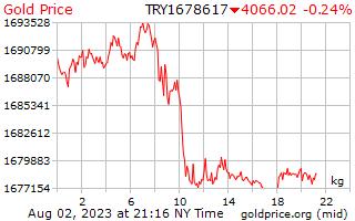 Precio 1 día oro por kilogramo en Lira turca