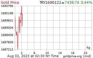 1 день золото цена за килограмм в турецких лирах