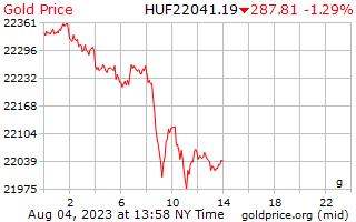 1 dia de ouro preço por grama em florins húngaros