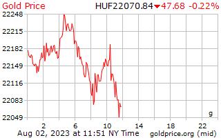 1 día de oro precio por gramo en Florín Húngaro
