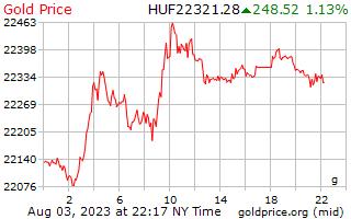1 giorno oro prezzo al grammo in Fiorino ungherese