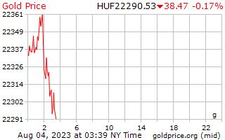 سعر الذهب يوم 1 جرام بالفورنت المجرى