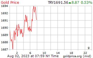 سعر الذهب يوم 1 جرام بالليرة التركية
