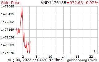 1 יום זהב המחיר לגרם בדונגס וייטנאמי
