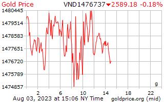 1 hari Gold Harga per Gram di Vietnam Dongs