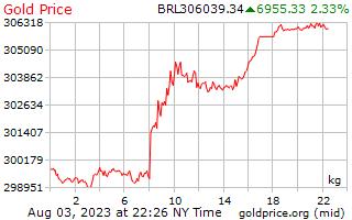 ブラジル レアルの 1 キログラムあたり 1 日金価格