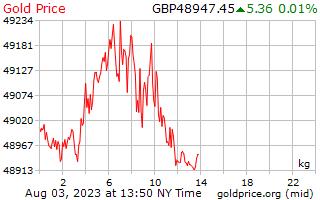 英国ポンドの 1 キログラムあたり 1 日金価格