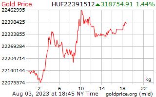 1 dia de ouro preço por quilograma em florins húngaros