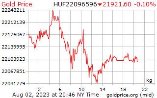 1 Tag Gold Preis pro Kilogramm in ungarische Forint