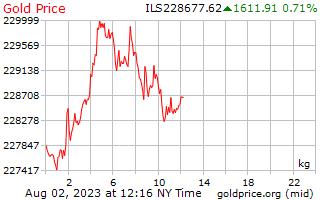 1 hari emas harga sekilogram di Israel Shekels