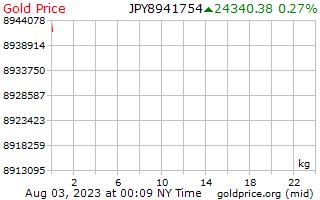 1 Tag Gold Preis pro Kilogramm in japanischen Yen