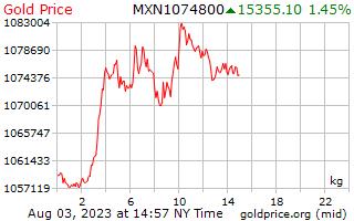 1 dag goud prijs per Kilogram in Mexicaanse Pesos