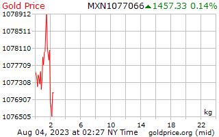 1 天黄金价格每公斤在墨西哥比索
