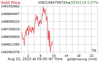 1 dia de ouro preço por quilograma de Dongs vietnamitas