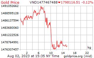 1 dag goud prijs per Kilogram in Vietnamees Dongs