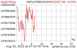 1 Day Gold Price per Kilogram in Vietnamese Dongs