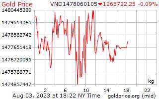 1 יום זהב המחיר לכל קילוגרם בדונגס וייטנאמי