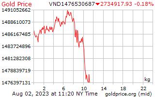 1 일 골드 베트남어 Dongs에 킬로그램 당 가격