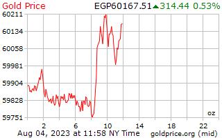 1 Tag Gold Preis pro Unze in ägyptische Pfund
