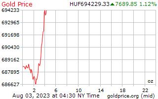 1 Tag Gold Preis pro Unze in ungarische Forint