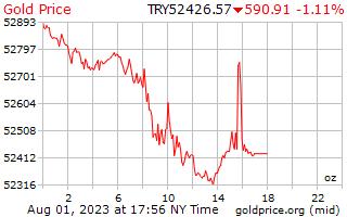 1 journée d'or prix par once en livre turque