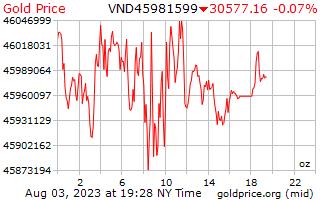 1 天黄金价格每盎司在越南盾