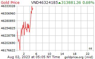 1 hari Gold Harga per ons di Vietnam Dongs