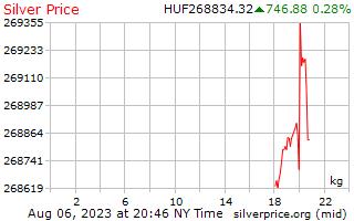 1 日シルバー ハンガリー ・ フォリントで 1 キロ当たり価格