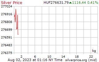 1 ngày bạc giá kg ở Hungary Forint
