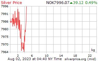 1 giorno in argento prezzo per chilogrammo in corona norvegese