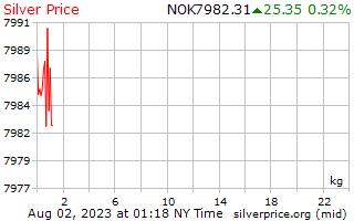 1 天银价格每公斤在挪威克朗