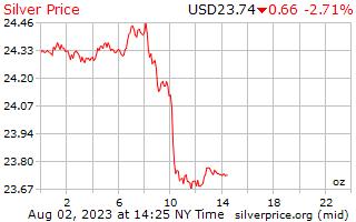 1 Tag Silber Preis pro Unze in US-Dollar